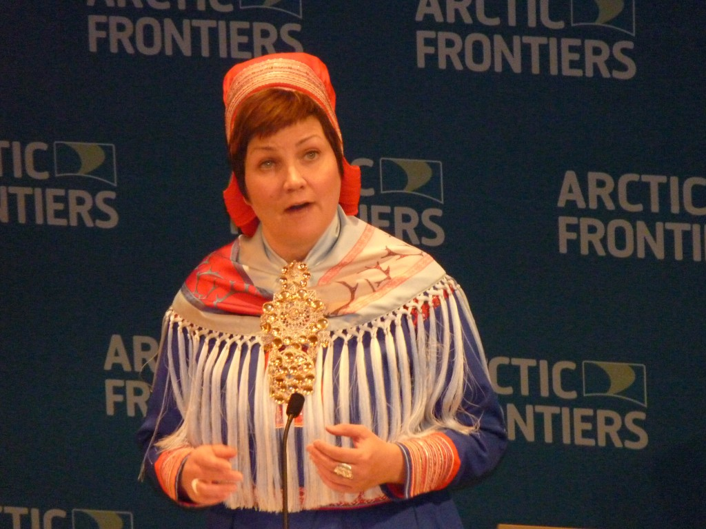 Sami Parliament President Ailei Keskitalo. (Irene Quaile)