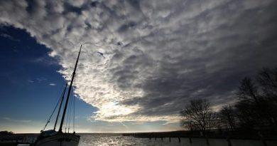 Clouds above the Baltic Sea. (Bernd Wuestneck / dpa / AP)