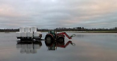 A farmer continues working despite December flooding in Western Finland (Yle)