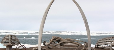 View of the Chukchi Sea seen through a whalebone arch in the Arctic city of Barrow, Alaska. (Nicole Klauss/Kodiak Daily Mirror/AP Photo)
