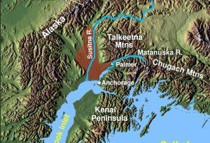 Map of the Matanuska-Susitna Valley. (Wikimedia Commons)