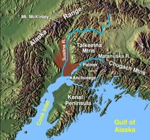 Map of the Matanuska-Susitna Valley. (Wikimedia Commons)