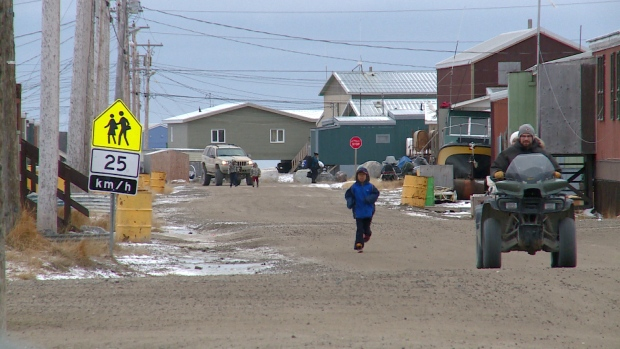 The hamlet of Arviat, on the west coast of Hudson Bay, has banned alcohol for almost 40 years. Residents voted to uphold the ban again yesterday. (Vincent Desrosiers/CBC)