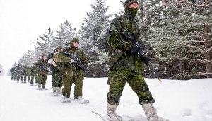 Members of the Arctic Response Company Group train during Exercise Frigid Forrester in Borden, Ont. on Feb. 1, 2014, in preparation for Exercise Trillium Response 14 which will take place in Nunavut later this month. (Master Cpl. Dan Pop/Canadian Army Public Affairs)