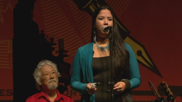 Kiera Kolson, récipiendaire du prix Jonathon Solomon pour l'activisme jeunesse. (CBC.ca)