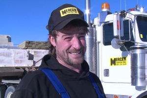 Whitehorse trucker Ross Mercer is one of the people organizing the haul of materials on the winter road to Old Crow, Yukon. (CBC)