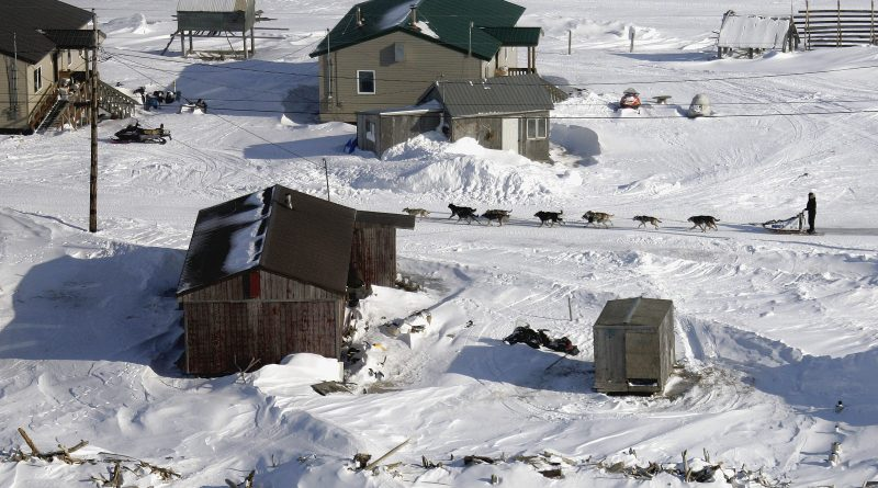 A view of Shaktoolik, Alaska. (Al Grillo / Alaska Dispatch)