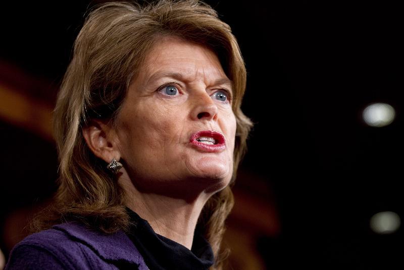 Sen. Lisa Murkowski, R-Alaska, speaks during a news conference in Washington D.C. in 2013. (Jacquelyn Martin / AP)