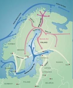 Map of Proposed Railway. (Arctic Corridor / Cryopolitics)