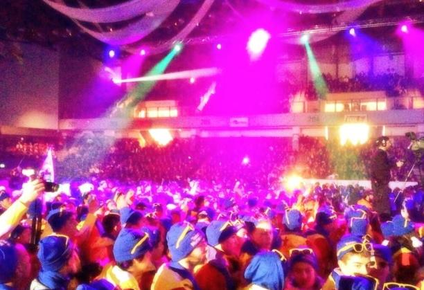 About 2,000 athletes gathered for the opening show. (Jordan Konek/CBC)