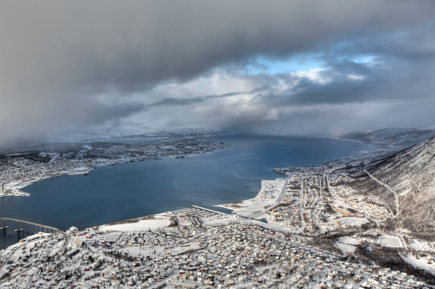 Tromso, a city in Norway's Arctic.  Polish energy company PGNiG has taken over Danish company Dong's offices in  Tromsø and is preparing for exploration in Arctic waters. (iStock)