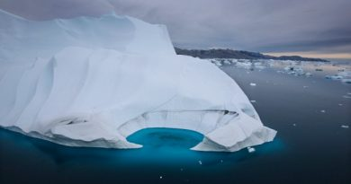 An iceberg melts off the coast of Ammasalik, Greenland. (The Associated Press)