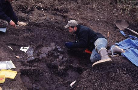Tony Fiorillo is shown in this undated handout photo on an Alaska's North Slope. Scientists have discovered a new species of dinosaur that roamed the Arctic 70 million years ago. Nanuqsaurus hoglundi is a tiny cousin of the Tyrannosaurus rex that lived in northern Alaska, close to the Yukon border on the Beaufort Sea. (Perot Museum of Nature and Science / The Canadian Press)