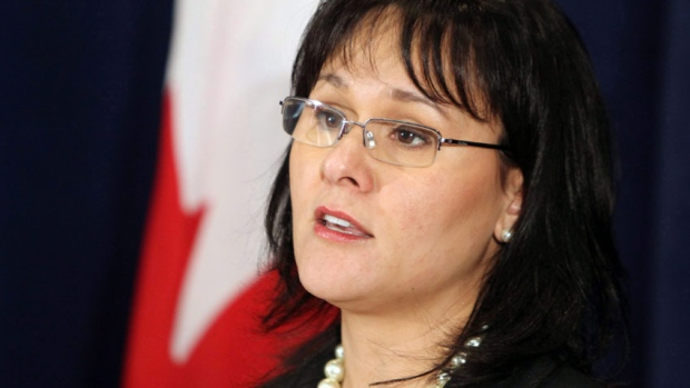 Leona Aglukkaq presented Canada's case Monday in Geneva against a European Union ban on seal products. (The Canadian Press)