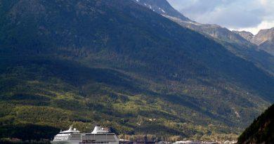 Cruise boat in Skagway, Alaska. (iStock)