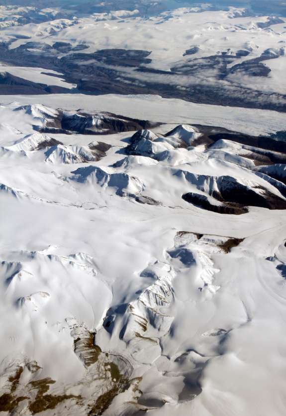Axel Heiberg Island, off eastern Canada's Ellesmere Island (pictured), is one of the northernmost spots of land on the Earth today. But in the Cretaceous period, when the animal that owned the preserved vertebra was alive, the island was at a more southerly latitude than the dinosaur-rich North Slope of Alaska, the study points out. (iStock)
