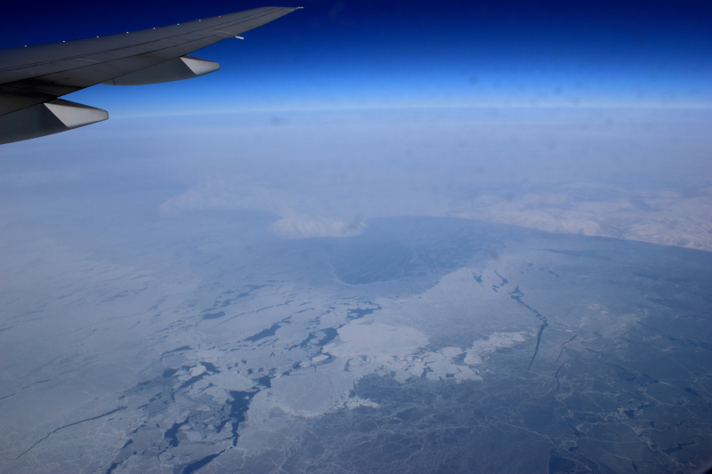 What if an aviation disaster occurred in the Arctic or sub-Arctic? Pictured: Flying above the Sea of Okhotsk en route from Newark to Narita. ( Mia Bennett, March 2012)