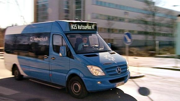 Helsinki's 'Kutsuplus' service offers public transport with the convenience of a taxi--at a much cheaper price. (Yle)