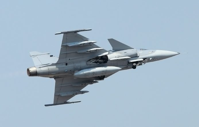 A JAS Gripen combat aircraft. Sweden's parliament had already agreed to purchase 60 JAS Gripen planes but Enstrom believes that 10 more should be bought. (iStock)