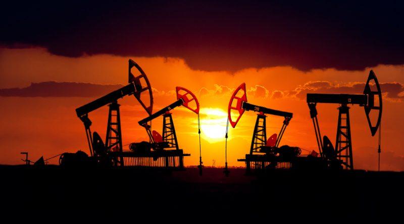Oil field at sunset in Kazakhstan. (iStock)
