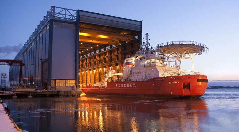 A picture of the the new Baltika icebreaker. (Courtesy Arctech Helsinki Shipyard)