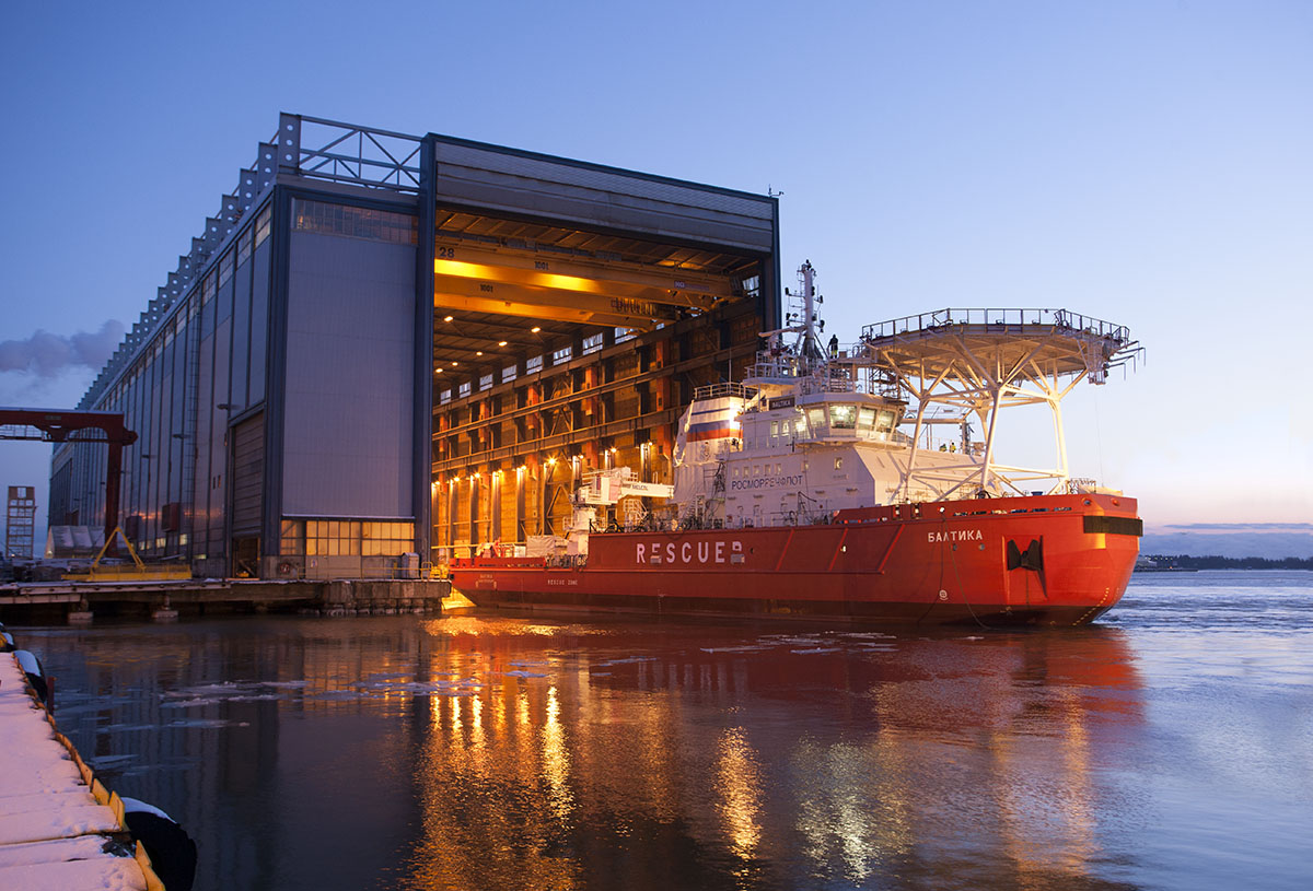 A picture of the the new Baltika icebreaker. (Courtesy Arctech Helsinki Shipyard)