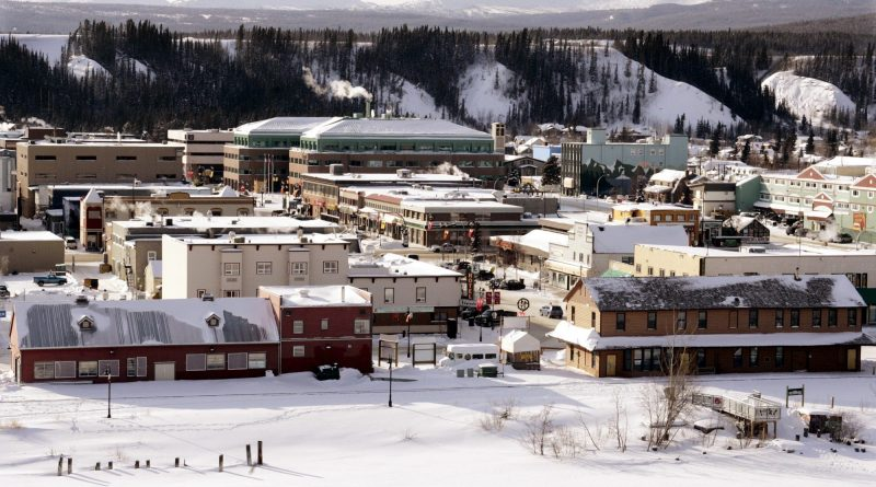 The city of Whitehorse, in Canada's northwestern Yukon territory. Whitehorse's 911 service is available within an 80 kilometre radius of the city. (The Canadian Press)