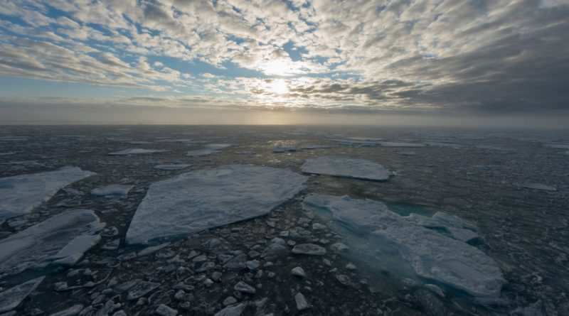 Ice floes on the Barents Sea at sunrise. (iStock)