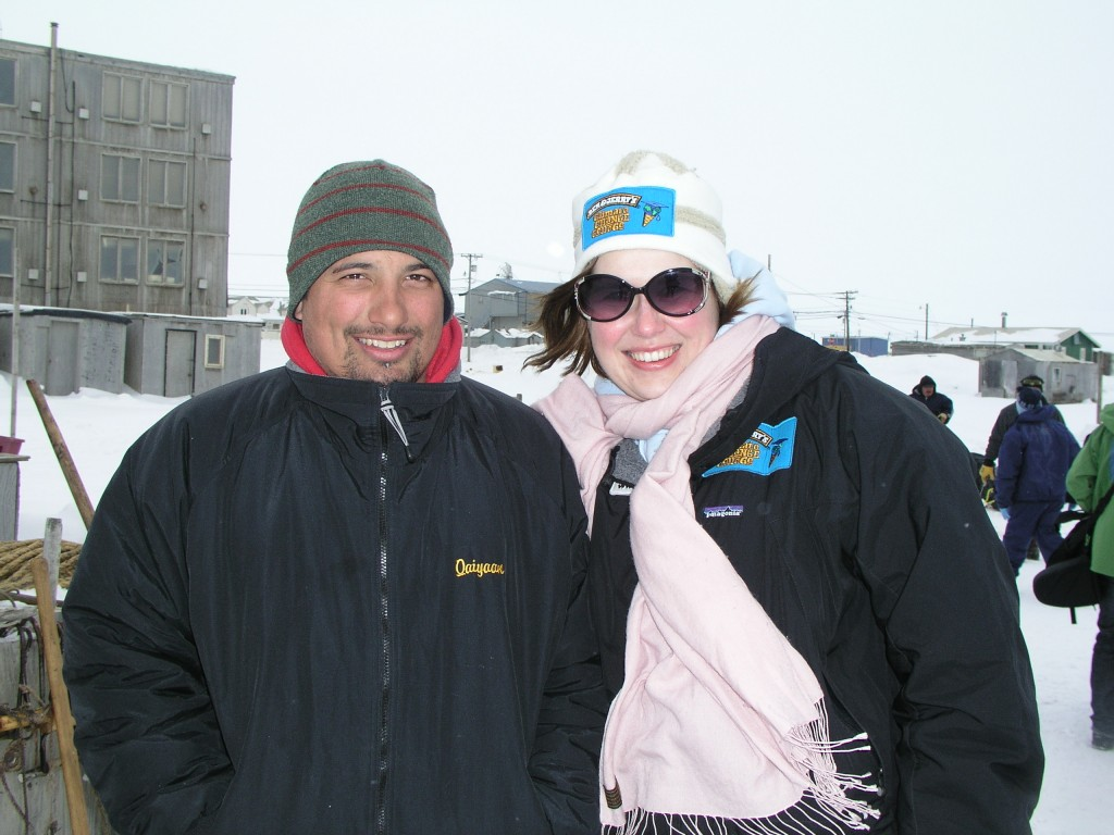 "Cara and Kayan – ""Give me a solar-powered snow mobile and I'll use it"" was the young Eskimo's quip in Barrow, Alaska,  in 2008. (Irene Quaile)"