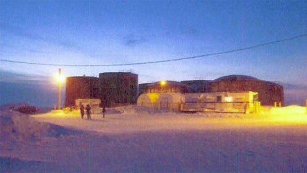 In 2011, 87,000 litres of gasoline spilled from the tank farm in Resolute, Nunavut. Over a million litres of fuel have been spilled in the territory since its creation in 1999. (Government of Nunavut photo)