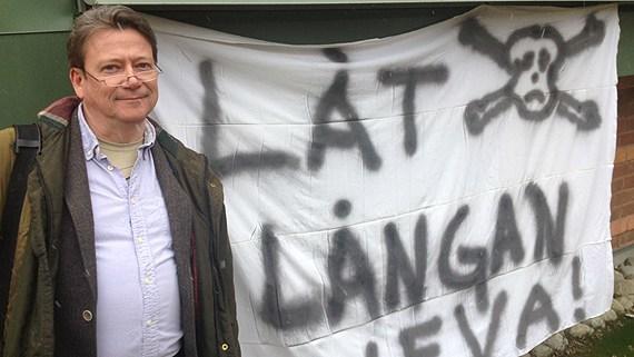 "Christer Borg, from the environmental group Älvräddarna (""Stream Savers""). (Pernilla Anth Jacobsson/Sveriges Radio)"