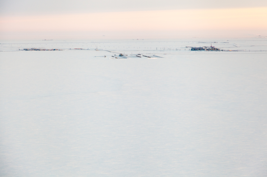 Oil infrastructure located at Prudhoe Bay, Alaska. (iStock)