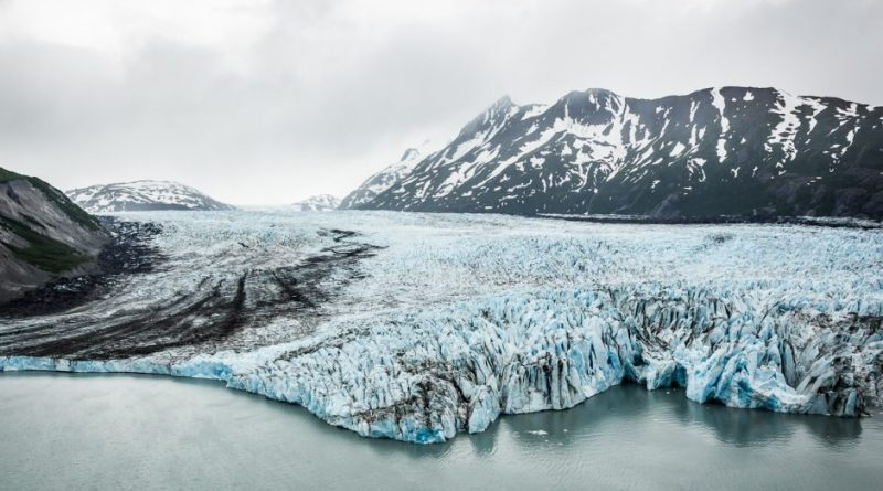 Colony Glacier, emptying into Lake George. A new report released Tuesday by the Obama administration said that glacial melt in Alaska is accelerating, just one example of how climate change is affecting the Last Frontier. ( Loren Holmes / Alaska Dispatch)