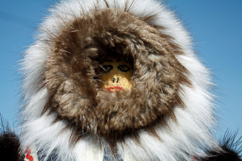 A handmade doll with fur trim from the Arctic community of Inuvik in Canada's Northwest Territories. (iStock)