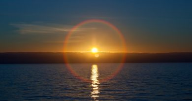 A solar halo in Nuuk, Greenland. (iStock)