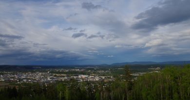 The view from UNBC over Prince George, BC. (Mia Bennett)