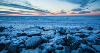 The Chukchi Sea looking out from the North Slope village of Kivalina. (Loren Holmes / Alaska Dispatch)