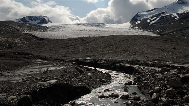 The Castle Creek glacier in British Columbia. Warming temperatures have caused this and most other glaciers to melt rapidly. A new US report suggests melting glaciers in BC and Alaska will have serious repercussions for the US. (Courtesy University of Northern British Columbia)