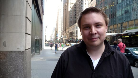 Tuomas Aslak Juuso, co-chair of the UN Indigenous Youth Caucus in New York on Monday. ( Yle Sápmi )