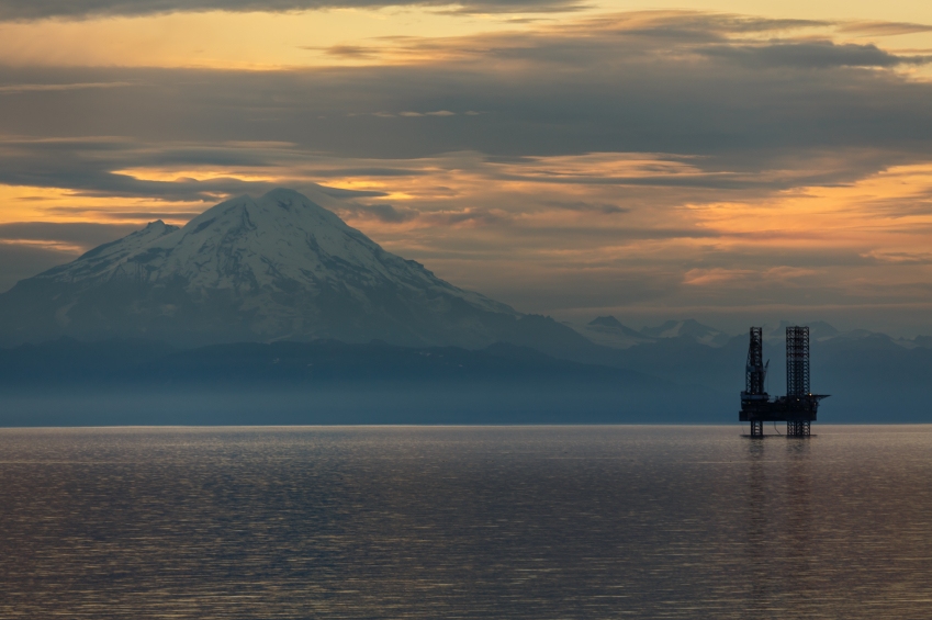 An oil and gas platform in Cook Inlet, Alaska. (iStock)