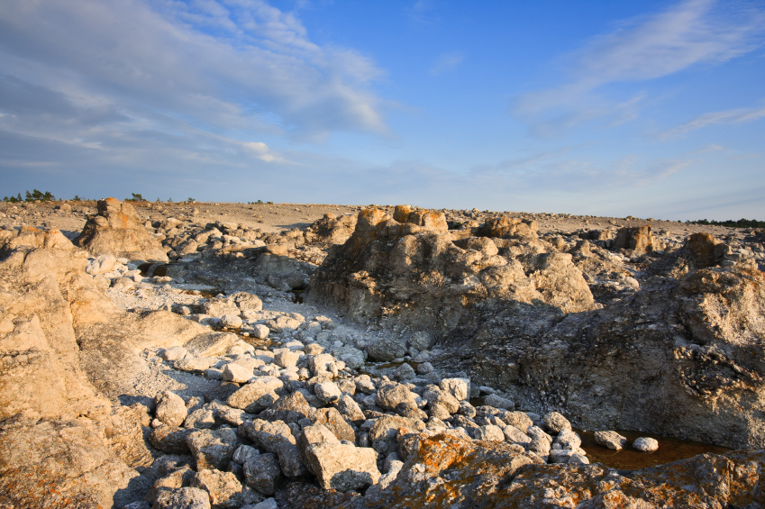 Limestone formations on the island of Gotland, Sweden. (iStock)
