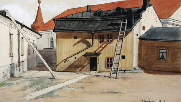 A view from early 20th century Vyborg painted by Viktor Svaetichin. (South Karelia Art Museum)