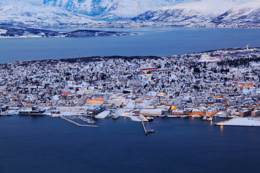 Tromso, a city of about 70,000 people in Norway's Arctic. The economic and development needs of urban regions like this are very different from Canada's northern regions. (iStock)
