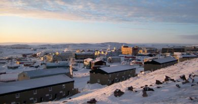 Iqaluit, the capital of Canada's eastern Arctic territory of Nunavut, will host the Arctic Council ministerial April 24-25. (The Canadian Press)