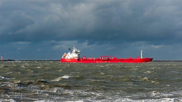 An oil tanker in the Beaufort Sea. (iStock)