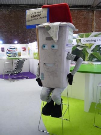 Conference mascot Richard Rubbish needs a break. (Irene Quaile)