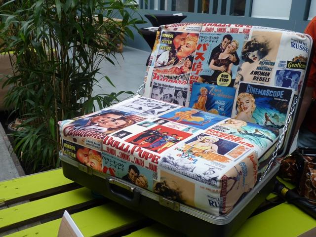 Prizewinning recycled suitcase armchair by Gabriela Saykova. (Irene Quaile)