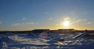Kaunisvaara industrial area. (Courtesy Northland Resources)