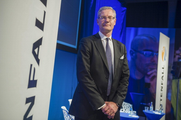 Magnus Hall, CEO for Swedish power utility company Vattenfall, poses at a press conference in Stockholm on May 7, 2014. (VILHELM STOKSTAD/AFP/Getty Images)