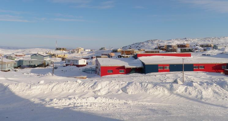 The community of Cape Dorset in Canada's eastern Arctic territory of Nunavut. (Eilís Quinn/Eye on the Arctic)